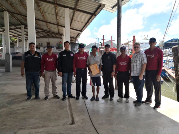 DSI สนธิกำลังทหารเรือ – ตำรวจน้ำ  ปฏิบัติการช่วยเหลือแรงงานประมงเมียนมา 5 ราย