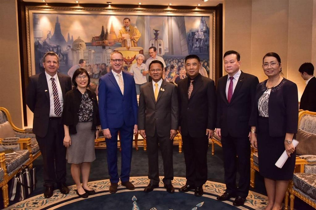 DSI representative joined the courtesy visit to Thai Justice Minister by British Ambassador to Thailand